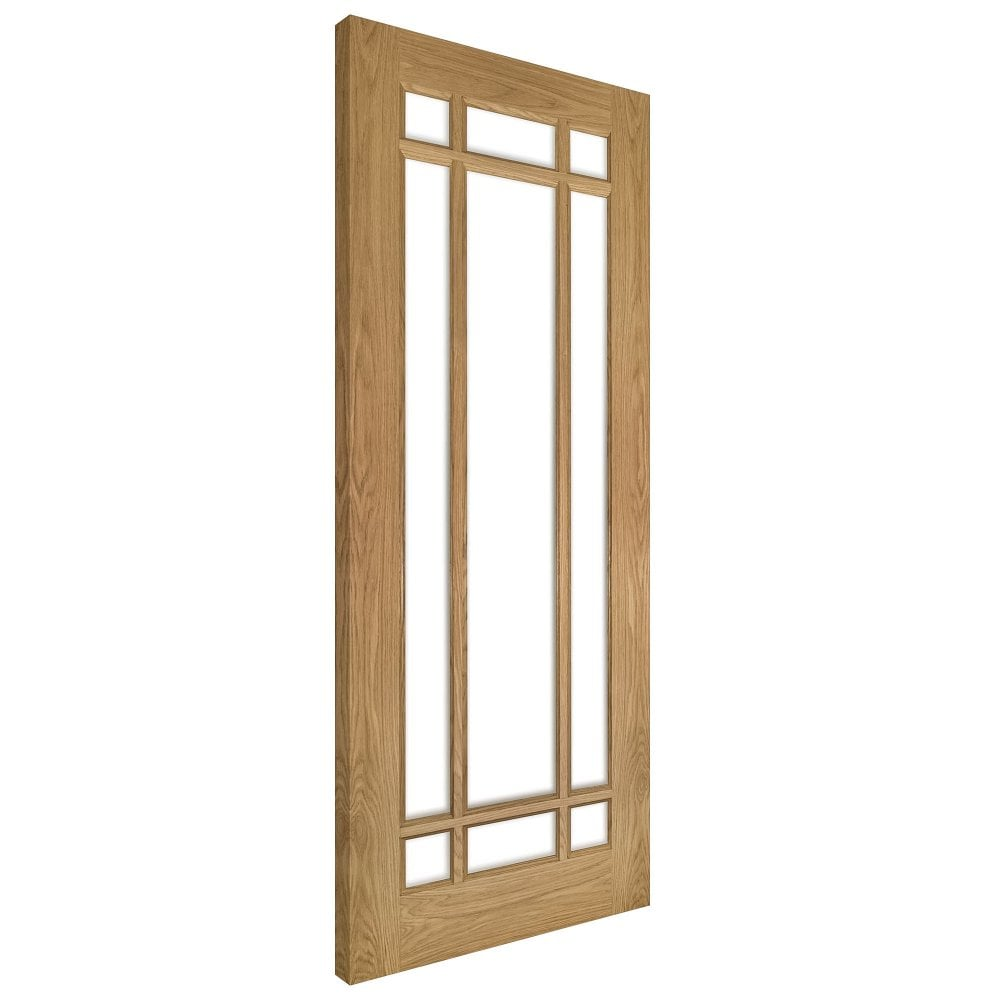 interior clear glass door. Internal Oak Unfinished Kerry 9L Solid Door With Clear Bevelled Glass Interior L