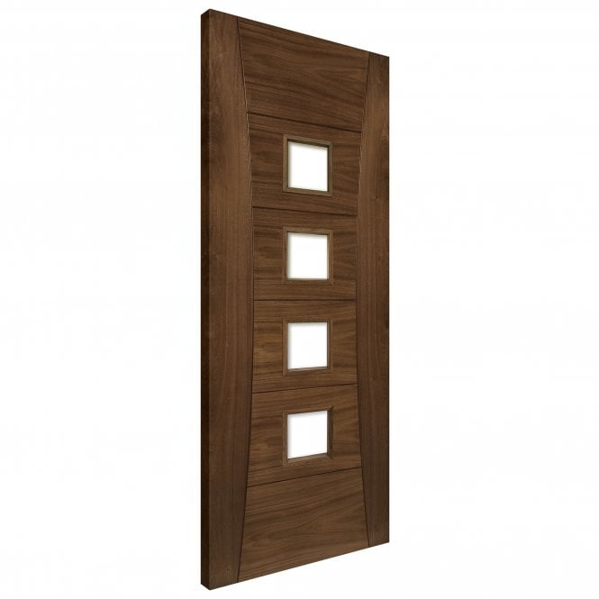 Pamplona Fully Finished Internal Walnut Unglazed FD30 Fire Door