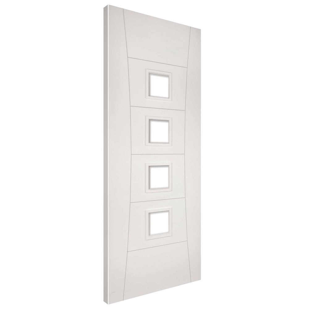 Deanta pamplona white primed clear glass internal door - White doors with glass internal ...