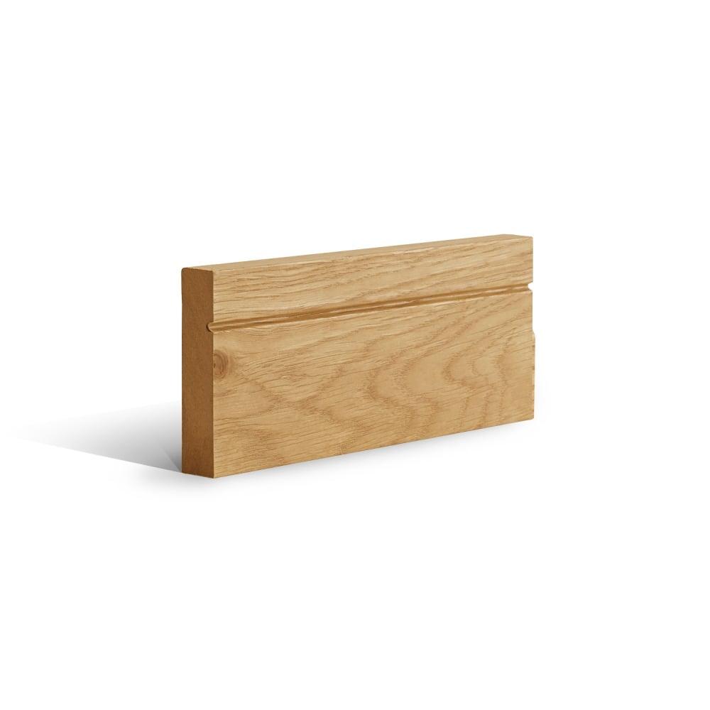 Deanta shaker pre finished oak architrave set leader doors for Door architrave