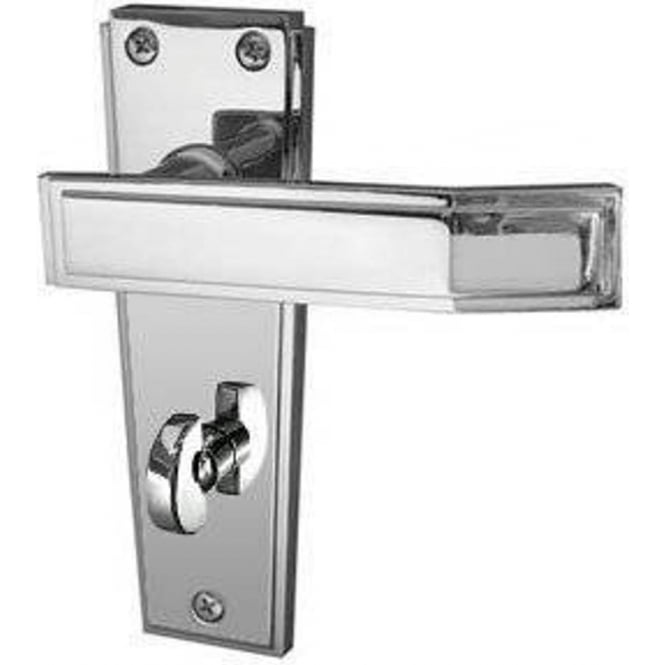 Frelan Hardware Deco JV255PC Polished Chrome Bathroom Lever On Backplate Handle