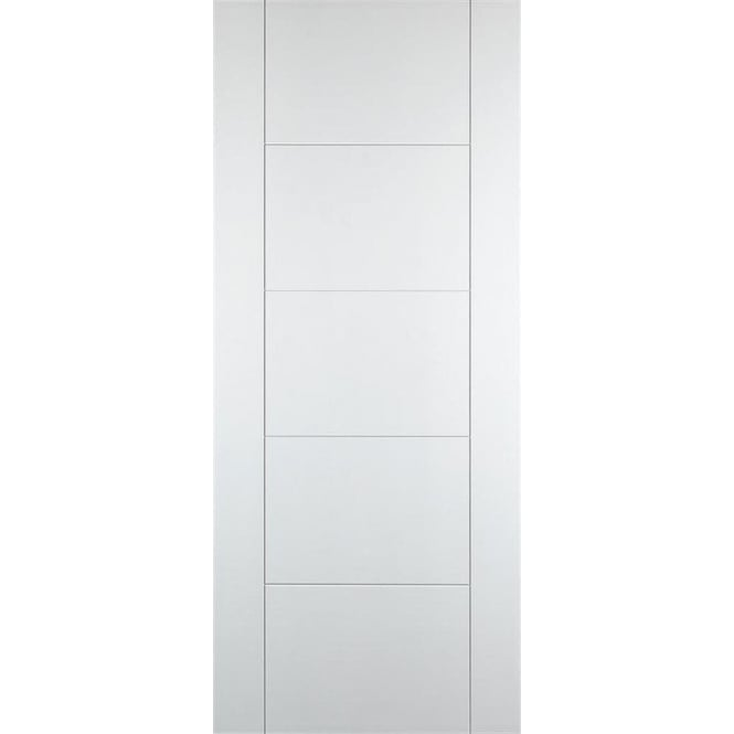 DoorSmart Internal Deluxe White-Primed Panelled Iseo C4500 FD30 Fire Door