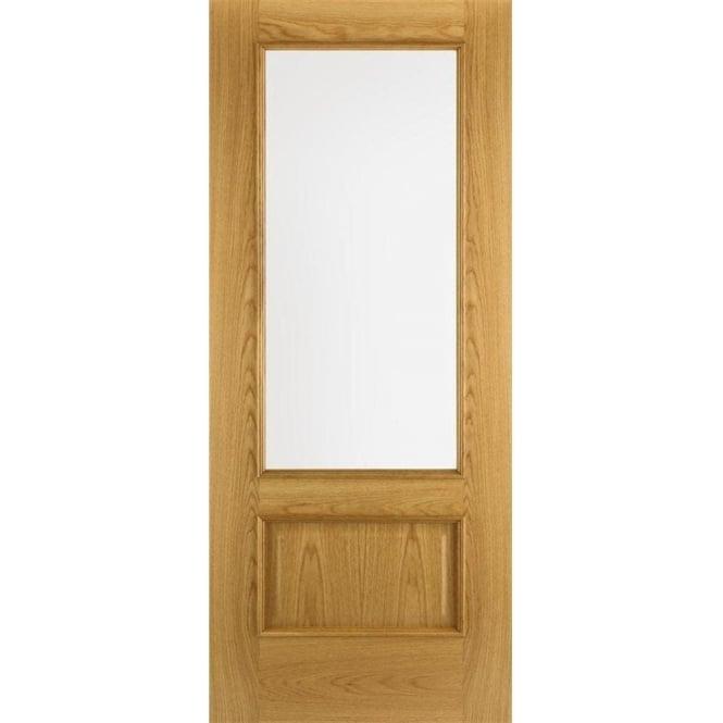 DoorSmart Iris Oak Pre Finished FD30 Fire Door Leader Doors