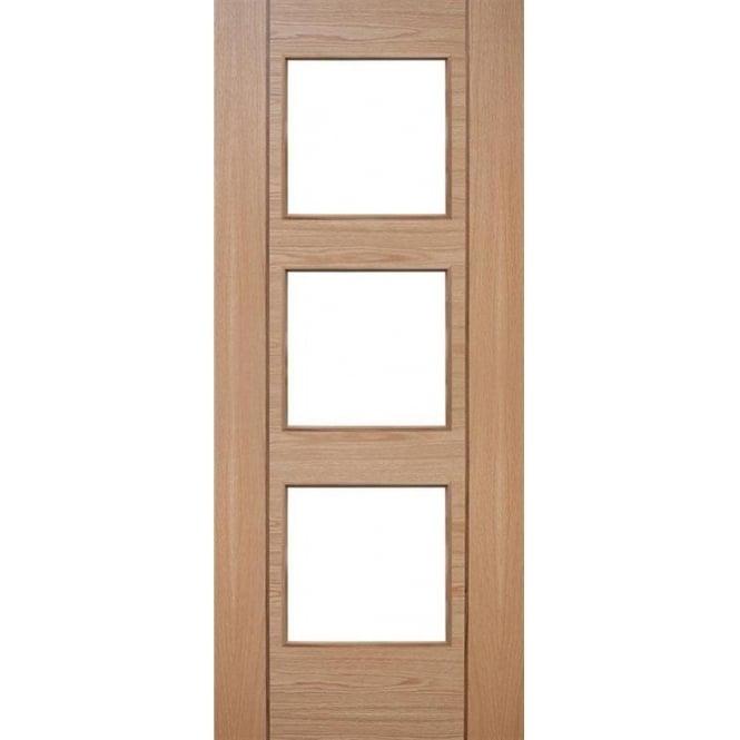 DoorSmart Salamanca Oak Walnut Pre Finished FD30 Fire Door Leader Doors