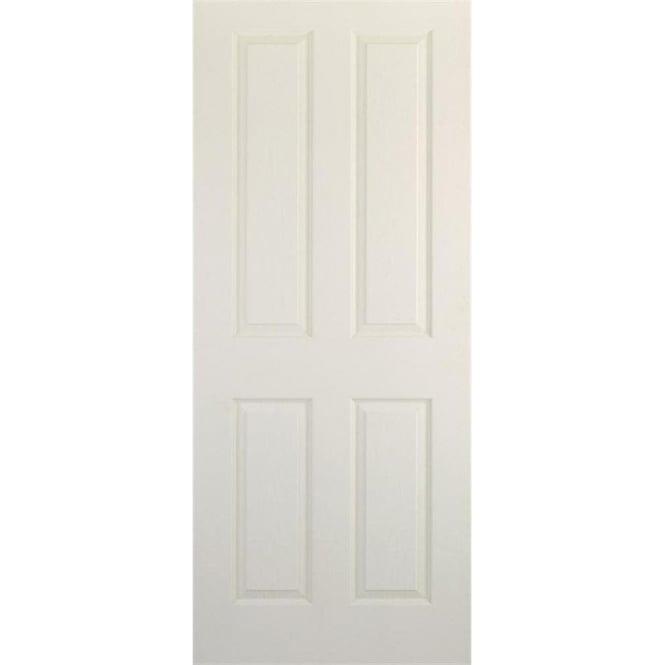 DoorSmart Canterbury White Primed FD30 Fire Door Leader Doors
