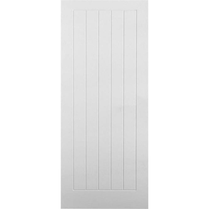 DoorSmart Internal Pre-Primed White Panelled Mulberry Lightweight Door
