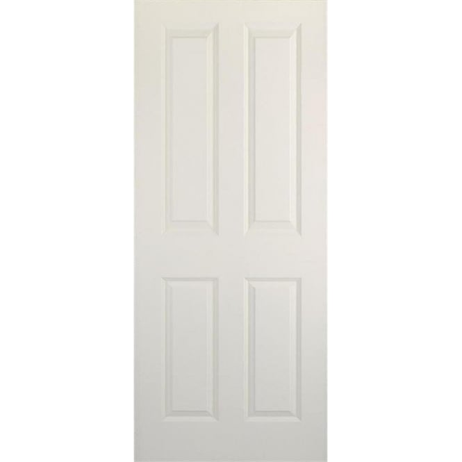 Doorsmart smooth coventry white primed fd30 fire door for Coventry garage doors