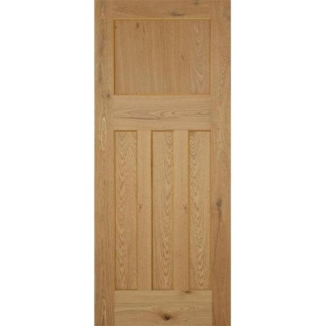 DoorSmart 1930 39 S DX Oak Un Finished FD30 Fire Door Leader Doors