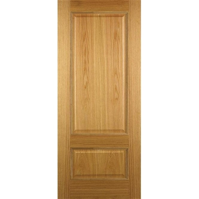 DoorSmart Internal Un-Finished Oak 2 Panel Iris Door With Bolection Moulding