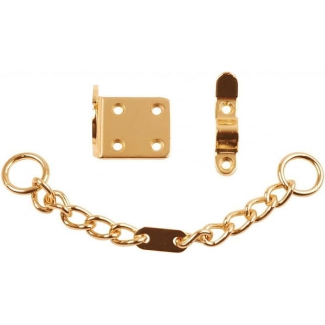 Dale Hardware Electro Brassed Security Door Chain