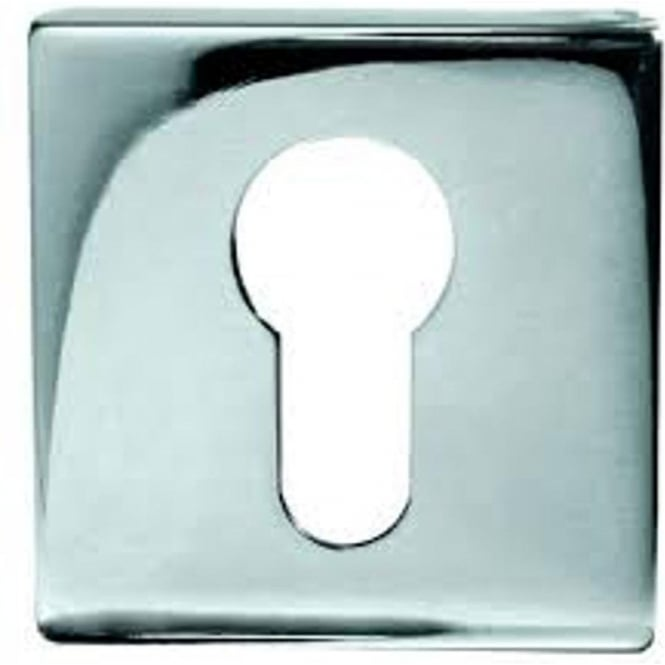 Frelan Hardware Euro JPS11 Polished Stainless Steel Square Key Escutcheon