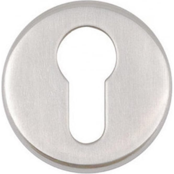 Frelan Hardware Euro JPS18 Polished Stainless Steel Round Key Escutcheon