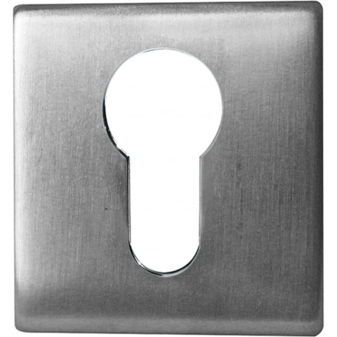 Frelan Hardware Euro JSS11 Satin Stainless Steel Square Key Escutcheon
