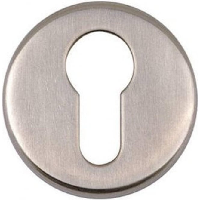 Euro JSS18 Satin Stainless Steel Round Key Escutcheon