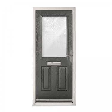 Extermal Anthracite Grey 2XG Pre-Hung Composite Door Set with Clear Glass (CDSXGCLR-CDSGREY)