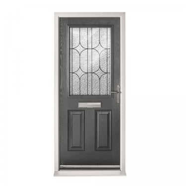 Extermal Anthracite Grey 2XG Pre-Hung Composite Door Set with Decorative Glass (CDSXGDEC-CDSGREY)