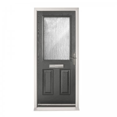 Extermal Anthracite Grey 2XG Pre-Hung Composite Door Set with Obscure Glass (CDSXG-CDSGREY)