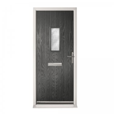 Extermal Anthracite Grey Chancery Pre-Hung Composite Door Set with Obscure Glass (CDSCHA-CDSGREY)