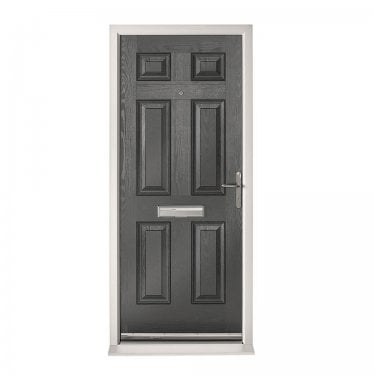 Extermal Anthracite Grey Colonial Pre-Hung Composite Door Set (CDSCOL-CDSGREY)