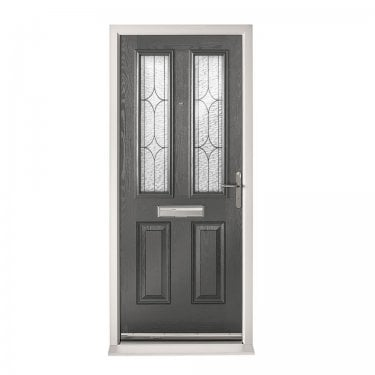 Extermal Anthracite Grey Malton Pre-Hung Composite Door Set with Decorative Glass (CDSMALDEC-CDSGREY)