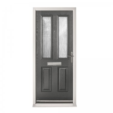 Extermal Anthracite Grey Malton Pre-Hung Composite Door Set with Obscure Glass (CDSMAL-CDSGREY)