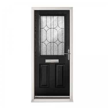 Extermal Black 2XG Pre-Hung Composite Door Set with Decorative Glass (CDSXGDEC-CDSBLACK)