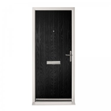 Extermal Black Suffolk Pre-Hung Composite Door Set (CDSSUF-CDSBLACK)