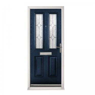 Extermal Blue Malton Pre-Hung Composite Door Set with Decorative Glass (CDSMALDEC-CDSBLUE)