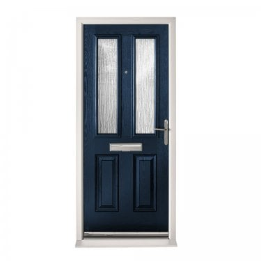 Extermal Blue Malton Pre-Hung Composite Door Set with Obscure Glass (CDSMAL-CDSBLUE)