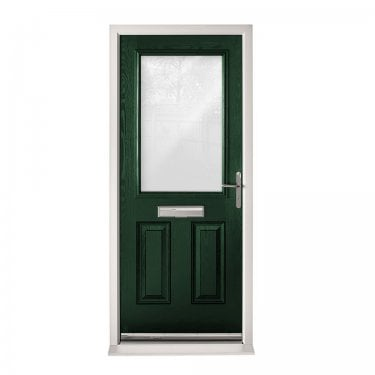 Extermal Green 2XG Pre-Hung Composite Door Set with Clear Glass (CDSXGCLR-CDSGREEN)