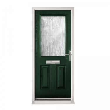 Extermal Green 2XG Pre-Hung Composite Door Set with Obscure Glass (CDSXG-CDSGREEN)