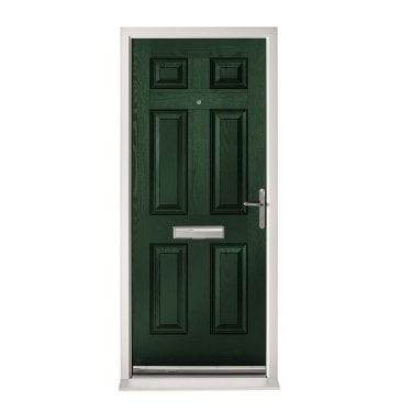 Extermal Green Colonial Pre-Hung Composite Door Set (CDSCOL-CDSGREEN)