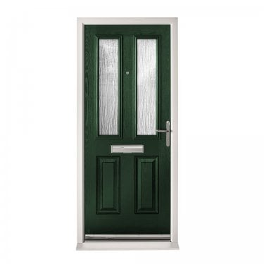 Extermal Green Malton Pre-Hung Composite Door Set with Obscure Glass (CDSMAL-CDSGREEN)
