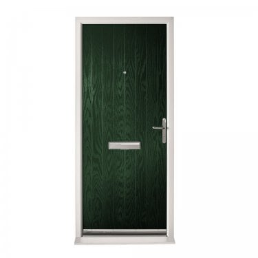 Extermal Green Suffolk Pre-Hung Composite Door Set (CDSSUF-CDSGREEN)