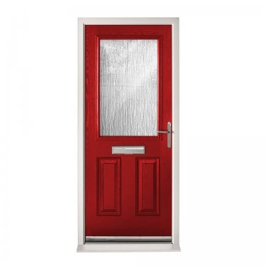 Extermal Red 2XG Pre-Hung Composite Door Set with Obscure Glass (CDSXG-CDSRED)