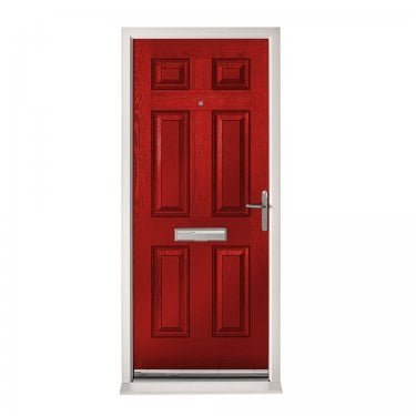 Extermal Red Colonial Pre-Hung Composite Door Set (CDSCOL-CDSRED)