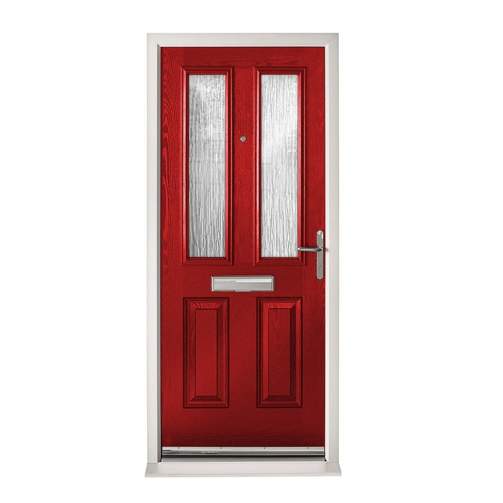 Xl Joinery Extermal Red Malton Pre Hung Composite Door Set With