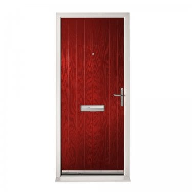 Extermal Red Suffolk Pre-Hung Composite Door Set (CDSSUF-CDSRED)