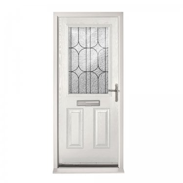 Extermal White 2XG Pre-Hung Composite Door Set with Decorative Glass (CDSXGDEC-CDSWHITE)