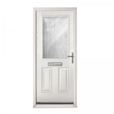 Extermal White 2XG Pre-Hung Composite Door Set with Obscure Glass (CDSXG-CDSWHITE)