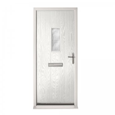 Extermal White Chancery Pre-Hung Composite Door Set with Obscure Glass (CDSCHA-CDSWHITE)
