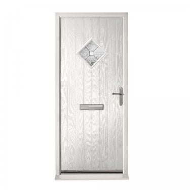 Extermal White Hereford Pre-Hung Composite Door Set with Decorative Glass (CDSHERDEC-CDSWHITE)