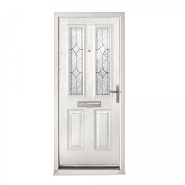 Extermal White Malton Pre-Hung Composite Door Set with Decorative Glass (CDSMALDEC-CDSWHITE)