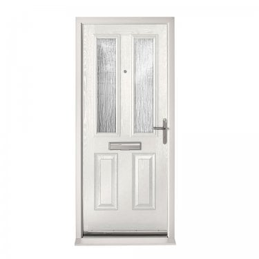Extermal White Malton Pre-Hung Composite Door Set with Obscure Glass (CDSMAL-CDSWHITE)