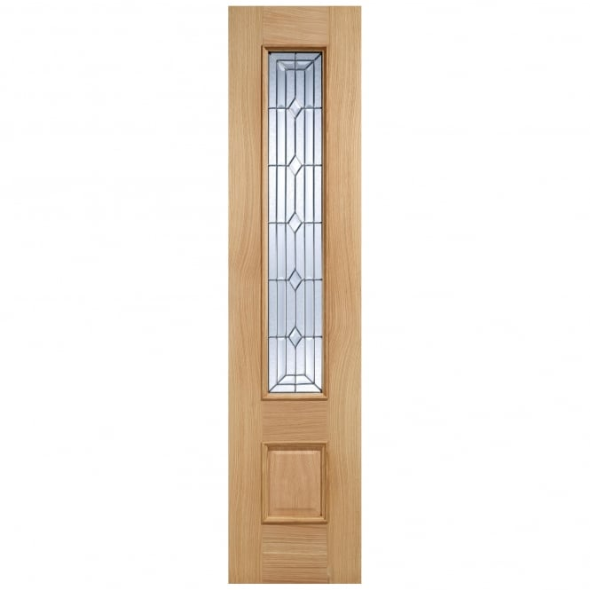 LPD External Adoorable Oak Empress Zinc Double Glazed Sidelight