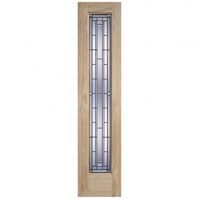 External Adoorable Oak Granada Lead Double Glazed Sidelight