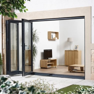 External AluVu Grey Sliding Door Set