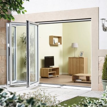 External AluVu White Sliding Door Set