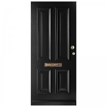 External Avondale Jet Black Fully Finished Solid Door (WK1121-RAL9005)