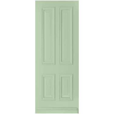 External Avondale Pastel Green Fully Finished Solid Door (WK1121-RAL6019)